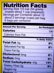 VALORI NUTRIZIONALI DIETA