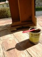 dipingere restaurare mobili
